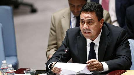 Embajador de Venezuela ante la Organización de Estados Americanos (OEA), Samuel Moncada.