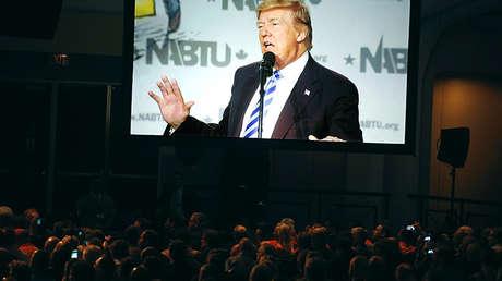 El presidente de EE.UU., Donald Trump, en Washington, 4 de abril de 2017