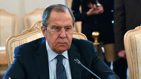 Уl ministro de Exterior ruso, Serguéi Lavrov.