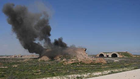 La base aérea siria de Shayrat (Homs) tras el ataque de EE.UU.