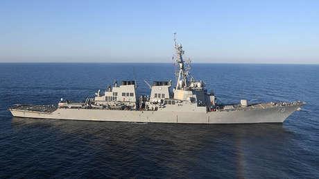 Destructor estadounidense USS Porter en el Mar Mediterráneo, el 9 de marzo de 2017.
