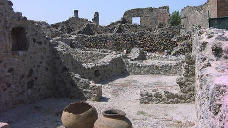 Ruinas de la antigua ciudad romana de Pompeya