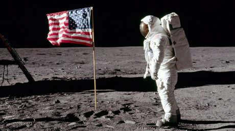 El astronauta Buzz Aldrin durante la misión Apolo 11, 20 de julio de 1969.