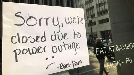 Un restaurante cerrado por un apagón en San Francisco (California, EE.UU.), el 21 de abril de 2017.