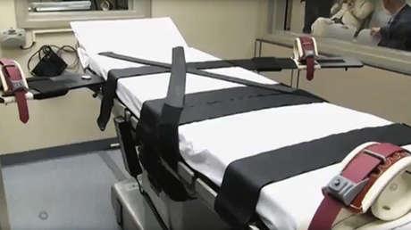 La camilla de ejecuciones en la cárcel Cummins, Arkansas, EE.UU.