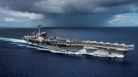El tercer portaaviones estadounidense de la clase Nimitz, el USS Carl Vinson.