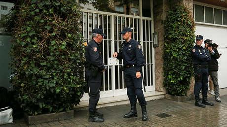 Registro este miércoles en la vivienda del expresidente de la Generalitat de Cataluña Jordi Pujol