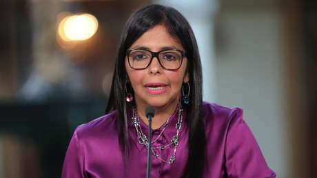 Delcy Rodríguez, ministra de Exteriores venezolana (26 de abril de 2017).