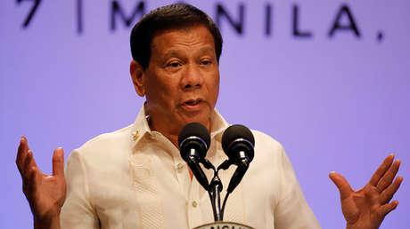 El presidente de Filipinas, Rodrigo Duterte (29 de abril de 2017).