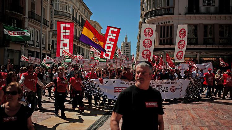 España: 73 ciudades marchan por mejores salarios y contra lacorrupción en el Primero de Mayo