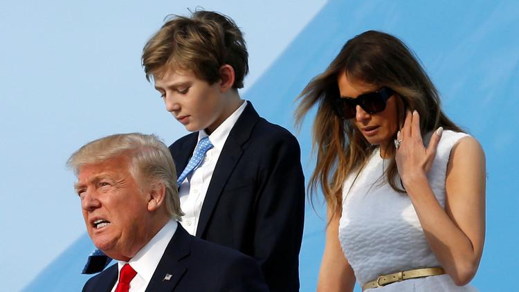 Trump revela por qué Melania y su hijo Barron no viven con él en la Casa Blanca