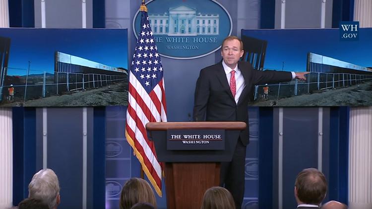 La Casa Blanca da a conocer fotos de un muro reforzado entre EE.UU. y México