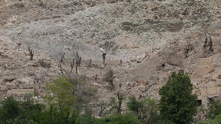 VIDEO: Así quedó el lugar donde cayó la 'madre de todas las bombas' lanzada por EE.UU.
