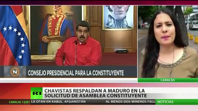 La oposición venezolana marcha contra la Asamblea Constituyente convocada por Maduro