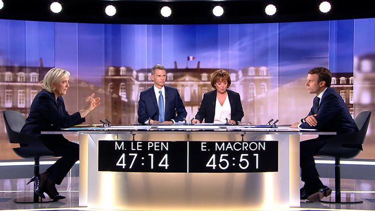 """""""Usted dice muchas tonterías"""": el debate de Macron y Le Pen fue  tan agresivo como insubstancial"""
