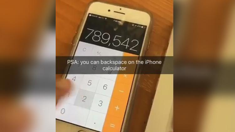 Este truco de la calculadora del iPhone enloquece Internet