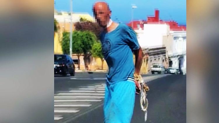 """""""Desamárrenme"""": Un hombre atado y ensangrentado huye de un supuesto secuestro en España (VIDEO)"""