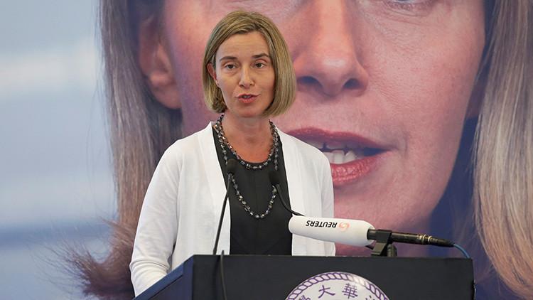 Mogherini: La UE puede ocupar el lugar que le deja EE.UU. en el mundo, porque es más previsible