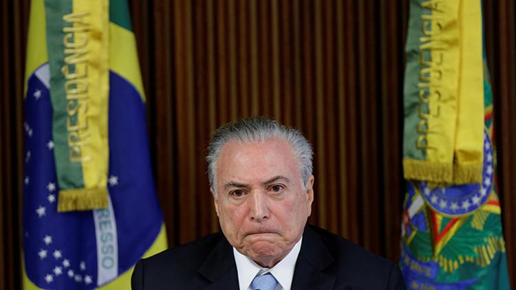 Brasil: El partido de Temer propone suspender las elecciones presidenciales de 2018