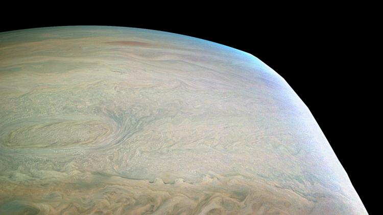 ¿Una pintura abstracta?: La NASA revela una impresionante imagen de Júpiter