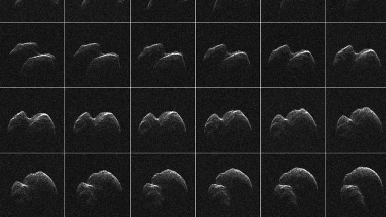 """Cerca de la Tierra: Así es el asteroide con forma de """"pato de goma"""" detectado por la NASA (VIDEO)"""
