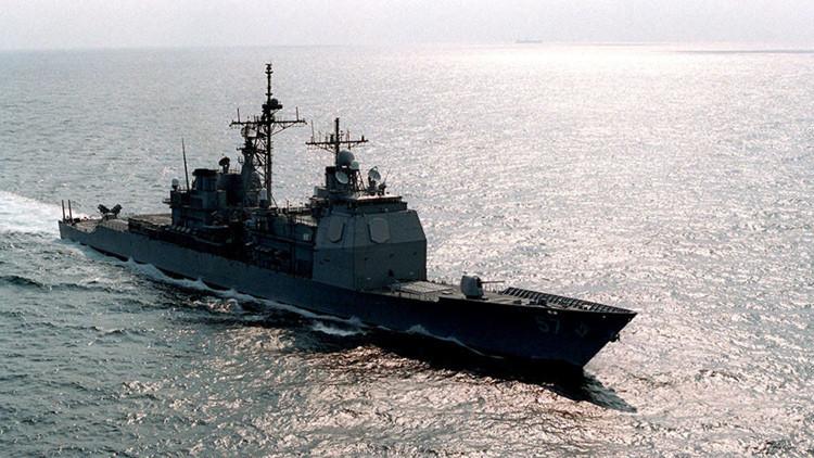 Crucero estadounidense chocó un barco pesquero surcoreano en el Mar de Japón