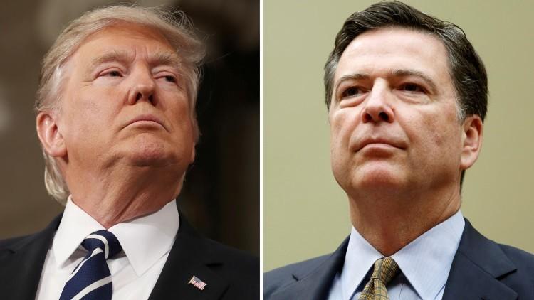 """Crisis constitucional"": Decisión de Trump de despedir al jefe del FBI desata frenesí en Twitter"