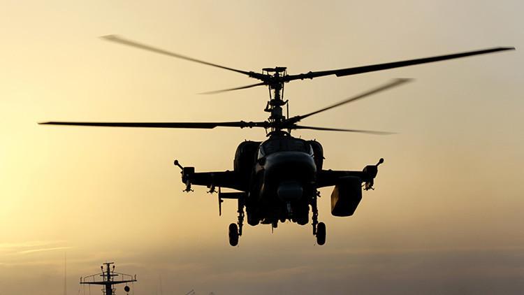 Se dan a conocer los resultados de las pruebas del helicóptero naval ruso Ka-52K Katrán (VIDEO)