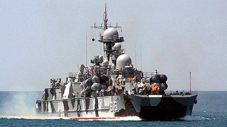 Barcos lanzamisiles rusos realizan ejercicios de artillería en el mar Negro