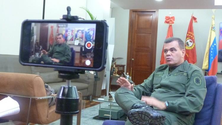 """Ministro de la Defensa de Venezuela a RT: """"No se usan armas letales en manifestaciones públicas"""""""
