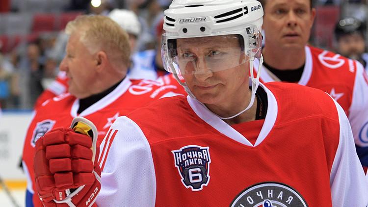 Putin participa en el festival de la Liga Nocturna de Hockey en Rusia (VIDEO)