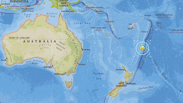 Un terremoto de magnitud 5,8 se registra cerca de Nueva Zelanda