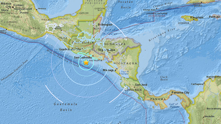 6.2 terremoto de magnitude sacudiu a costa central da América