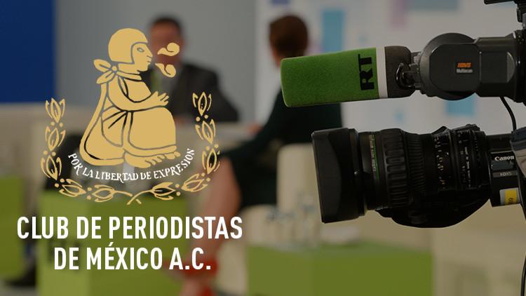 RT en Español, galardonado con el premio especial del Club de Periodistas de México