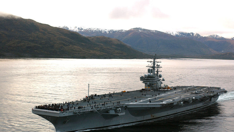 Un fallo técnico impide la salida de un portaviones de EE.UU. de una base en Japón
