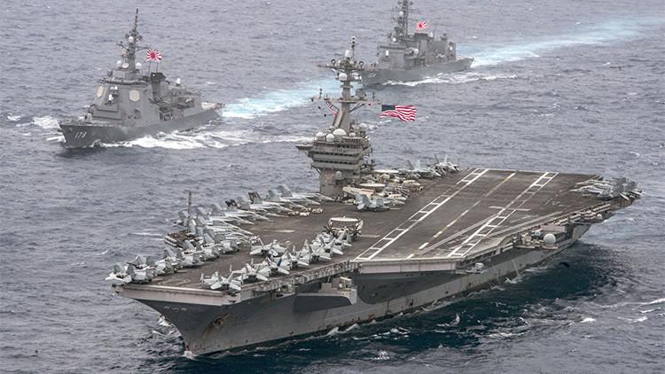 El portaviones de EE.UU. Carl Vinson se quedará cerca de la península coreana por plazo indefinido