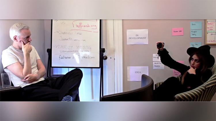 'Gaga Leaks': WikiLeaks revela la entrevista de Lady Gaga con Assange (VIDEO)