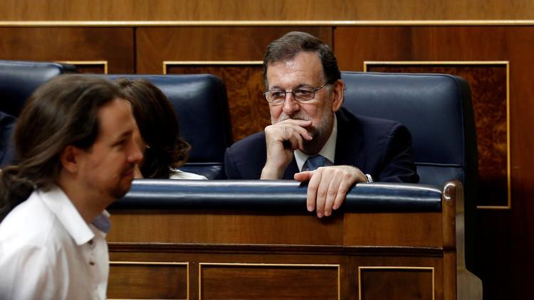 Unidos Podemos presenta una moción de censura contra 'la corrupción' de Rajoy