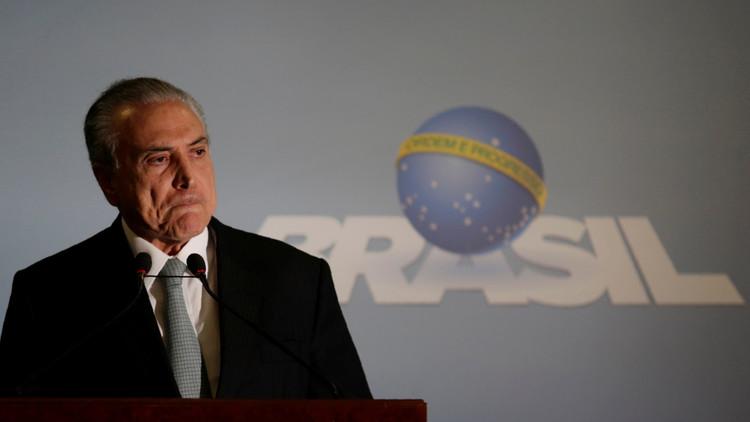 Grupos marchan en Brasil pidiendo renuncia de Temer