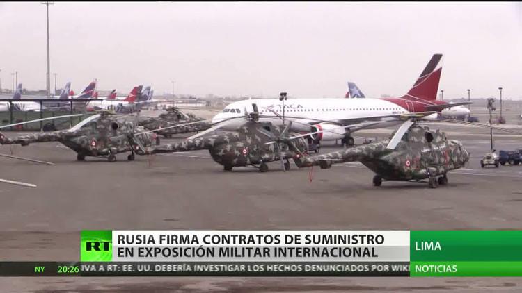 Rusia firma contratos de suministro militar en una exposición internacional en Perú