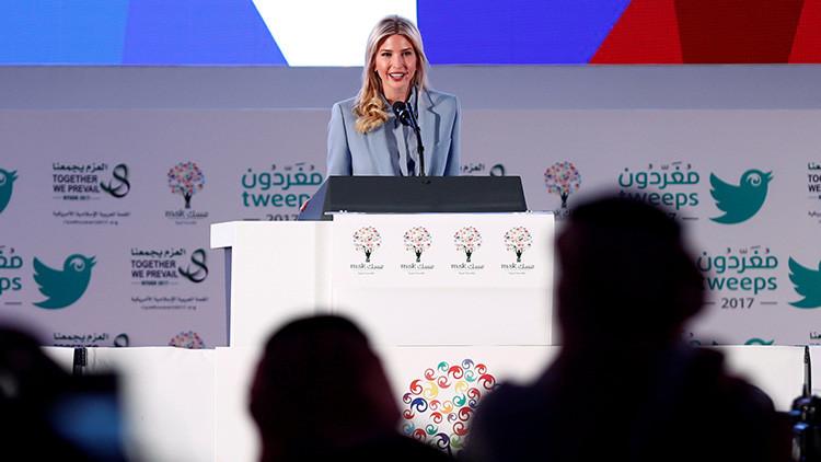 """Ivanka Trump, criticada por aplaudir el """"progreso"""" de Arabia Saudita en favor de la mujer"""