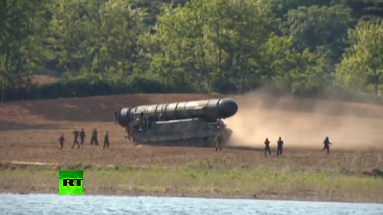 Corea del Norte muestra imágenes del lanzamiento de su misil balístico (Video)
