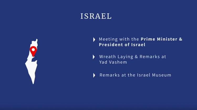 Un video de la Casa Blanca muestra un Israel sin los Altos del Golán ni Cisjordania