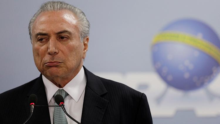 """Temer sobre el escándalo de corrupción: """"No renunciaré. Si quieren, que me derriben"""""""