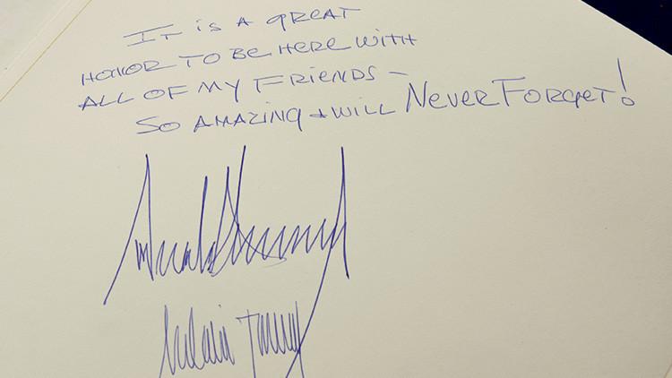 Trump, criticado por su mensaje en el libro de visitas del Memorial del Holocausto