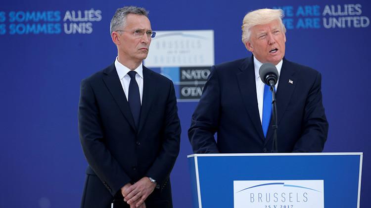 """Trump insta a la OTAN a centrarse en el terrorismo, la migración y la """"amenaza rusa"""""""