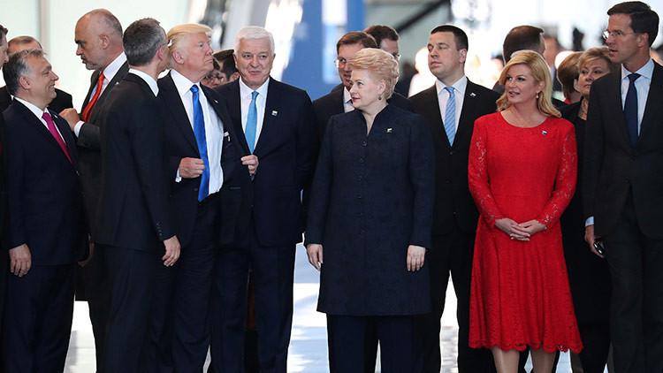 Así justifica la Casa Blanca el empujón de Trump a un líder de la OTAN (VIDEO)