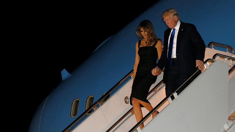 '¡Por fin!': Donald y Melania Trump se dan la mano a su llegada a Sicilia para el G7 (VIDEO)