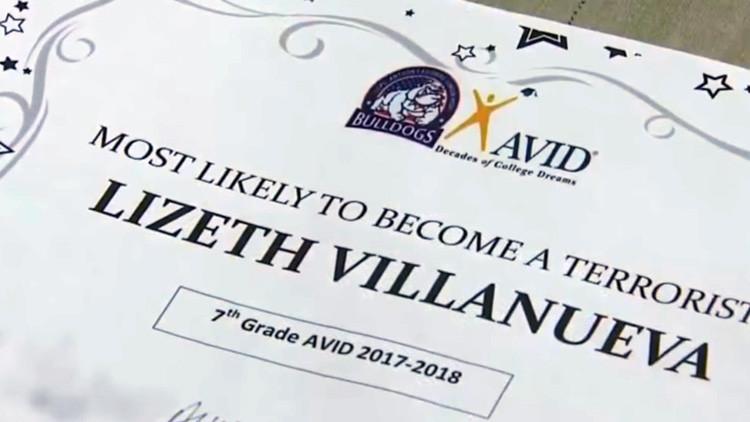 Texas: Polémica por premio otorgado a una estudiante latina, calificándola de 'futura terrorista'