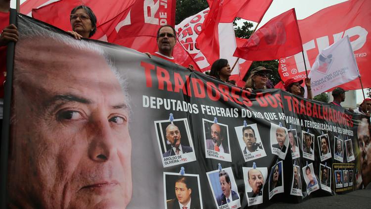 Michel Temer sustituye al ministro de Justicia en plena crisis política